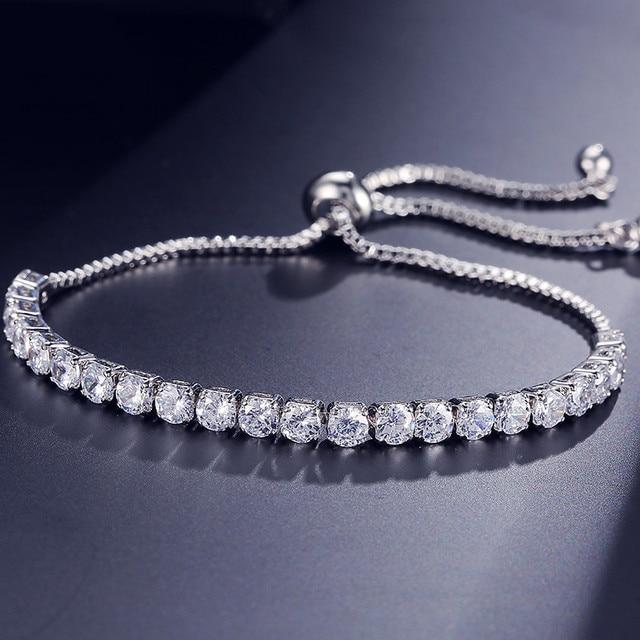 2021 New Fashion Luxury 925 Sterling Silver Tennis women's Bracelets Bangle For Women Christmas Gift Jewelry Wholesale S5877b 6