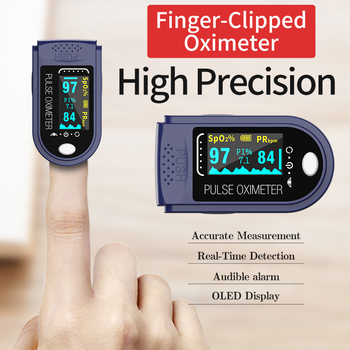 цена на Elderly adult blood oxygen monitor finger pulse oximetry blood oximetry heart rate monitor battery-free fast delivery