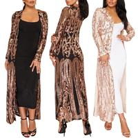 Women Plus Size Cloak of the coat African riche bazin dress for women Sexy Sequins Perspective Cardigan Cloak of the One Coat