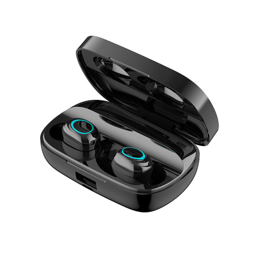 S11 TWS 3500 мАч Внешний аккумулятор наушники светодиодный Bluetooth 5,0 наушники беспроводные HIFI стерео наушники игровая гарнитура с микрофоном - Цвет: No LED Black
