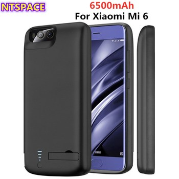 6500mAh Extended Phone Battery Power Case For Xiaomi Mi 6 Portable Power Bank Cover For Xiaomi mi 6 Battery Power Charger Case