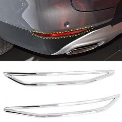 Apto para chevrolet blazer 2019 2020 acessórios do carro auto abs chrome carbono traseiro luz de nevoeiro lâmpada adesivo capa guarnição 2 pçs