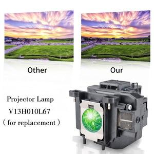 Image 3 - מקרן מנורת V13H010L67 הנורה ELPL67 עבור EB W16 EB W16SK EB X02 EB X11 EB X12 EB X14 EB X15 EH TW480 EH TW510 EH TW550 גרנד