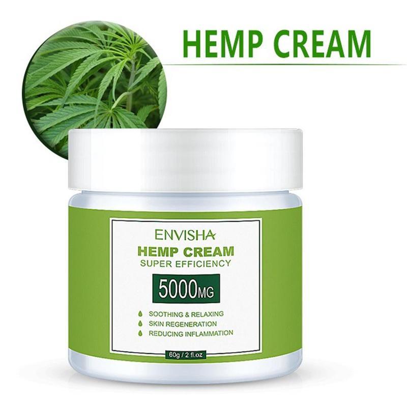 60ml Natural Hemp Face Cream Hemp Oil Cream Anti-inflammation And Arthritis Pain Relief Hemp Balm Hemp Seeds Cream Skin Care