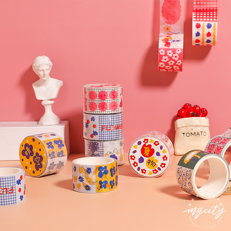Mohamm Spotty Dress Series Color Washi Masking Tape Release Paper Stickers Scrapbooking Stationery Decorative Tape
