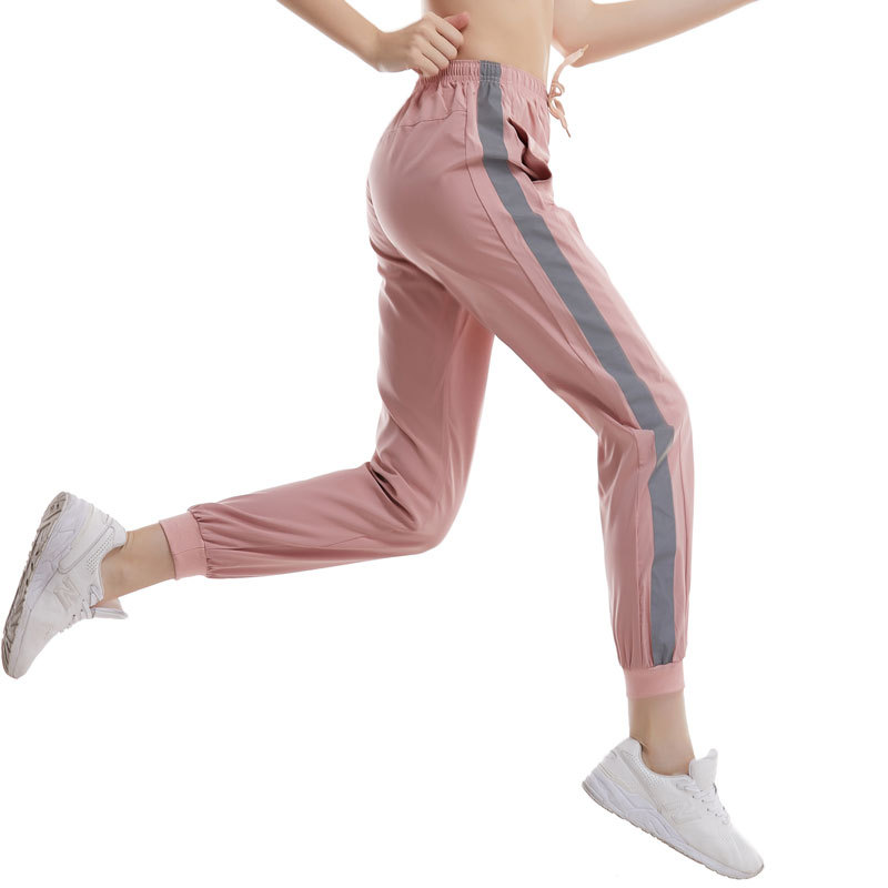 Cross Border Casual Pants Women's 2019 New Style Sports Large Size Pants Fitness Pants Reflective Strips Yoga Running Trousers C