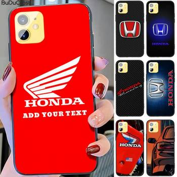 Honda Racing Car Logo Brand Phone Case For Iphone 12 Pro Max 11 Pro XS MAX 8 7 6 6S Plus X 5S SE 2020 XR Case image