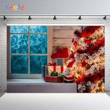 Yeele Счастливого Рождества фон Фотофон подарки дерево милый