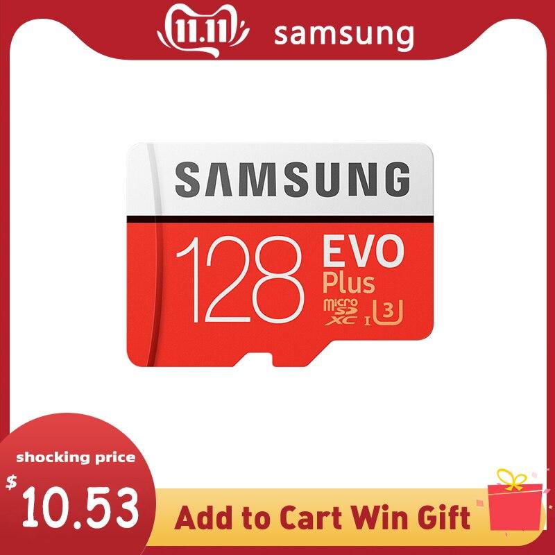 SAMSUNG Cartão De Memória MicroSD GB 64 32GB 128GB 256GB 512GB SDHC SDXC Classe U3 EVO + Classe 10 C10 UHS Microsd TF Cartões SD Trans Flash