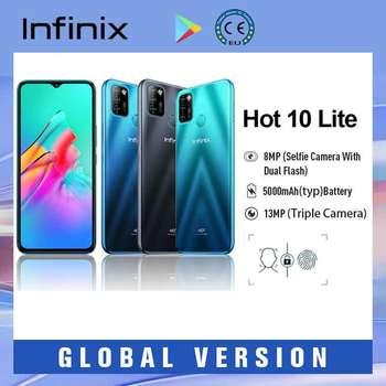 "Infinix Hot 10 Lite Smartphones 5000mAh Fingerprint Face Unlock 13MP Triple Camera Android 10  6.6""HD Display смартфон هاتف ذكي 1"