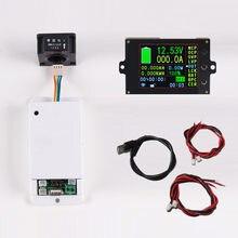 Dc 120v 18 em 1 medidor de tensão sem fio amperímetro bateria solar de carregamento coulômetro capacidade detector de energia tester