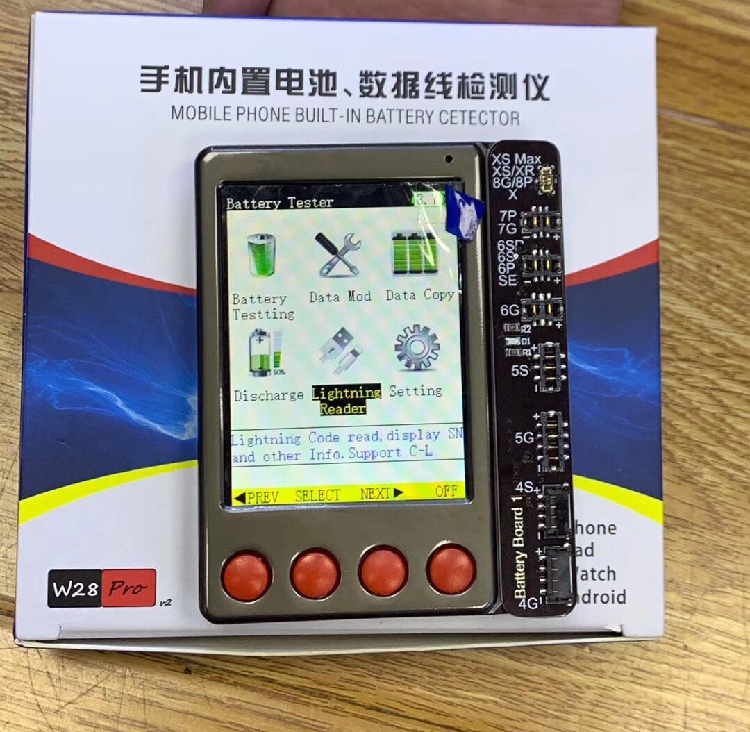 Battery Test Box for iPhone iPad with Battery Data Cable Test Board Battery Status Tester One Key Clear Cycle