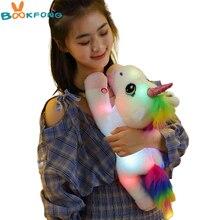 45 см светодиодный Единорог плюшевая игрушка светильник светящиеся Единорог Мягкие Животные лошадь игрушка мягкая кукла милые детские игру...