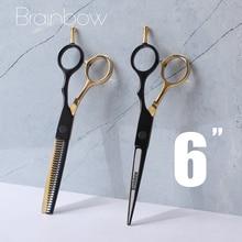Brainbow Professional 6''Hair Scissors Japan Hair Cutting Thinning Styling Tools Barber Scissors Set Hair Cutting Shears Haircut