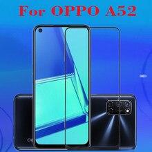 Высокопрочное закаленное 3D стекло для Oppo A52, полное покрытие, Высококачественная Взрывозащищенная пленка 9H для Oppo A52