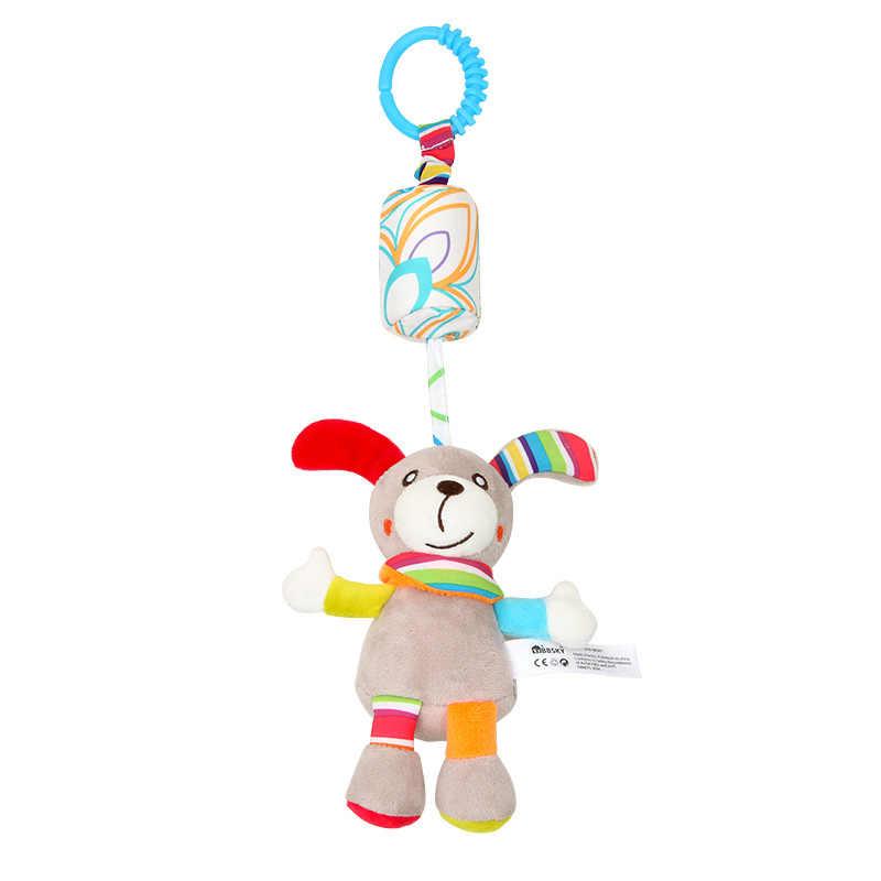 ガラガラのおもちゃかわいい子犬蜂ベビーカーのおもちゃガラガラ携帯ためトロリー 0-12 ヶ月幼児ベッドギフト