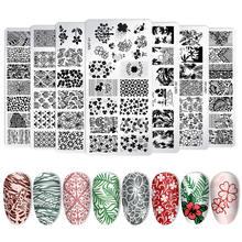 8 шт пластины для стемпинга + 1 инструментов ногтей инструменты