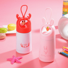 500ml Cartoon Rabbit Thermos Mug Cute Pendant Stainless Steel Vacuum Flask Student Creative Insulated Cup Portable Water Bottle