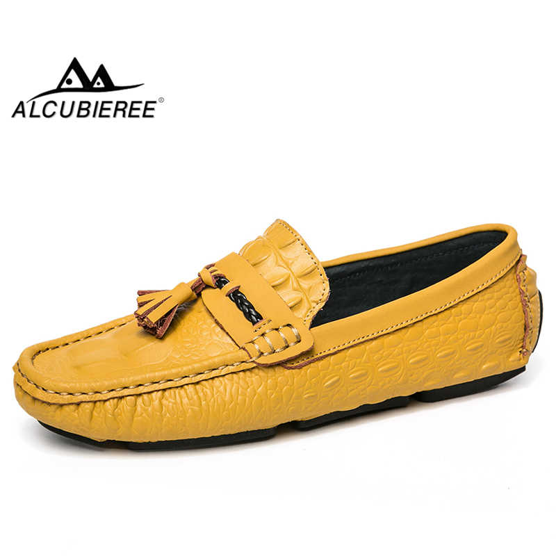 Men/'s Leather Tassel Moccasins Slip On flat Loafers Casual driving Shoes new