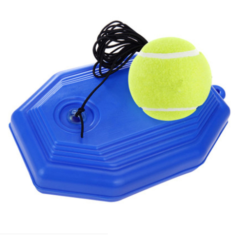 1 Set Tennis Trainer Tennis Base+Training Ball With Rope Durable Easy To Use YS-BUY