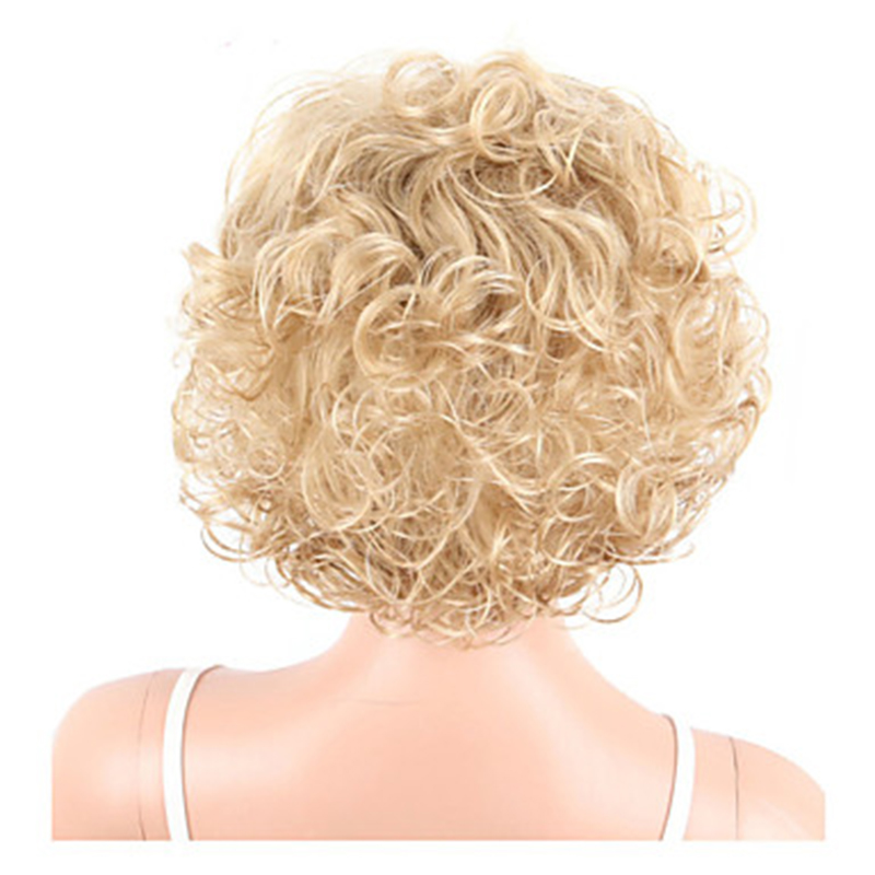 Image 5 - HAIRJOY  Synthetic Hair Women Blonde Short Curly  Wigs Free ShippingSynthetic None-Lace  Wigs   -