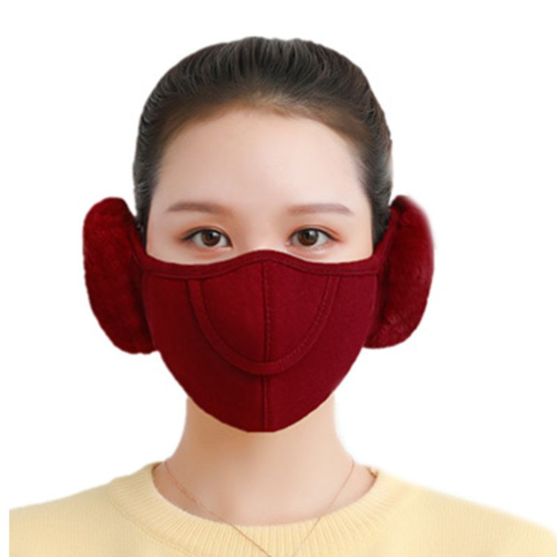 Winter Fashion Warm Adults Mask New Outdoor Riding Electric Car Cover Earmuffs LX9E