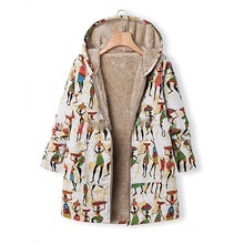 Winter Plus Size 5XL Outwear Pregnancy Clothing Coats for Pregnant Women Warm Maternity Tops Thicken Full Printed