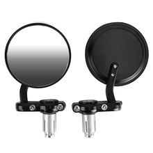 "7/8"" UNIVERSAL Motorcycle BIKE/MOTORBIKE Rearview Handle Bar End Side Mirrors(China)"
