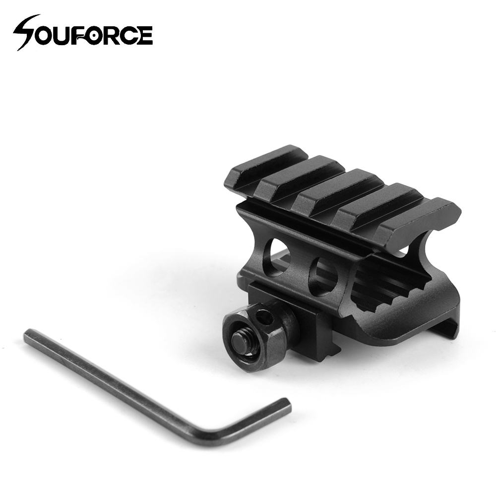 Weaver Picatinny 4 Slot 20mm Rail Increase Bracket Riser Base Suit Scope Mount Accessories Hunting