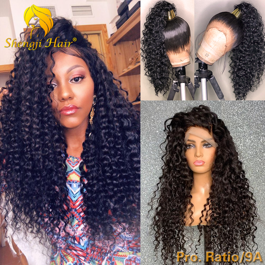 Curly Lace Front Wig Pre Plucked 13x6 Brazilian Remy Glueless Lace Front Human Hair Wig For Black Women Fake Scalp Remy Hair Wig