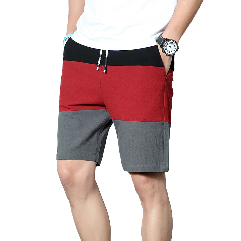 2020 New Summer Men Shorts Cotton Casual Shorts Homme Knee Length Fashion Breathable Shorts Quick Dry