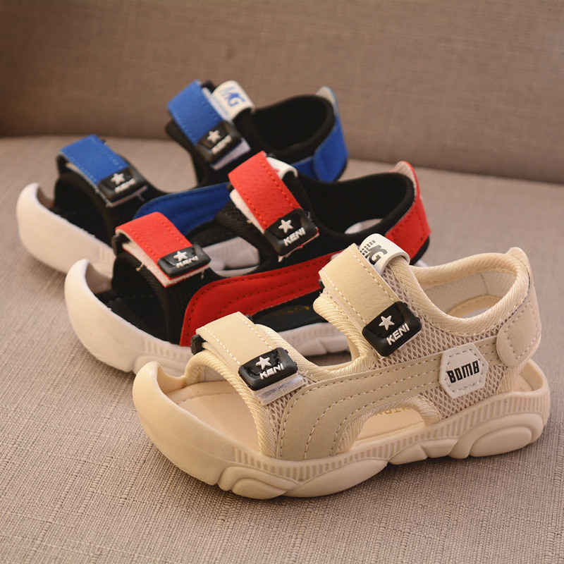 Summer New Children Barefoot Sandals  Boy Soft Bottom Beach Shoes Anti-kick Protection Head Toddler Functional Sandals
