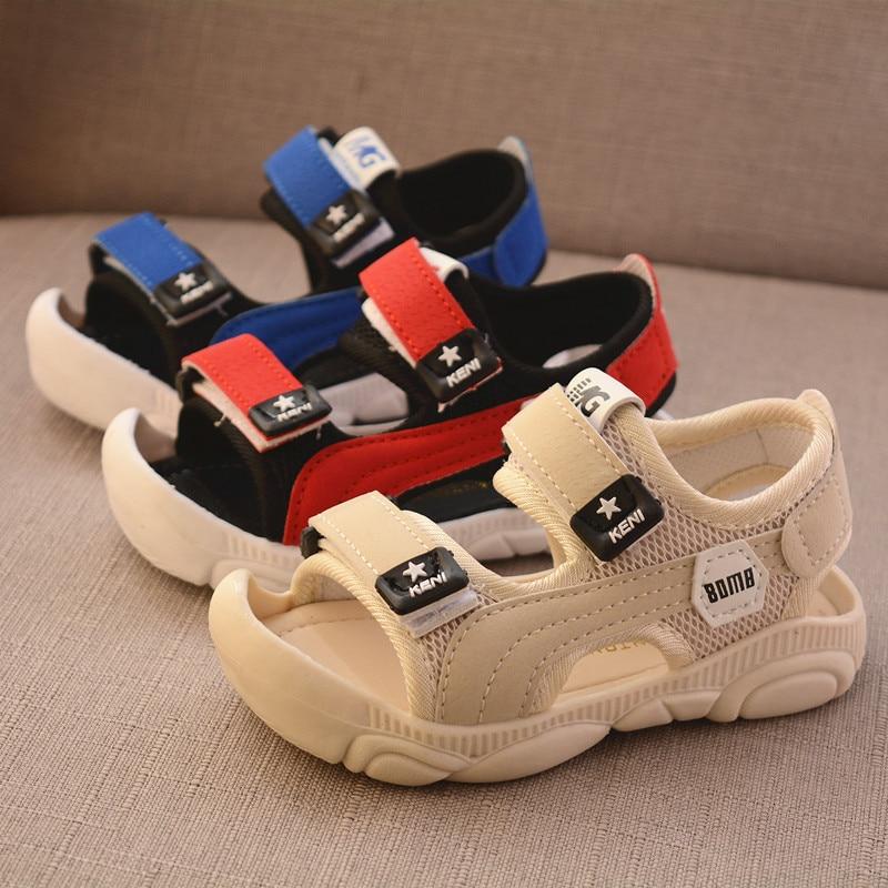 Summer New Children Barefoot Sandals  Boy Soft Bottom Beach Shoes Anti-kick Protection Head Toddler Functional Sandals