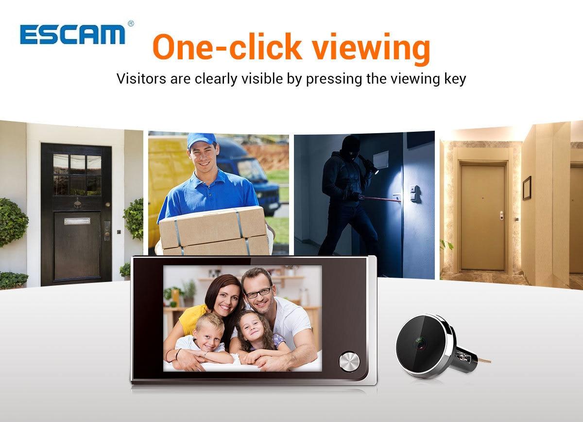 ®DealDoorbell Camera Peephole Escam Viewer Photo-Visual-Monitoring Digital Electronic LCD╥
