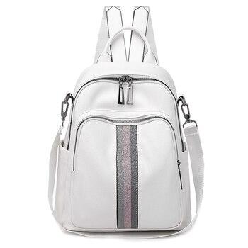 2020 Leather Waterproof Mini Backpack
