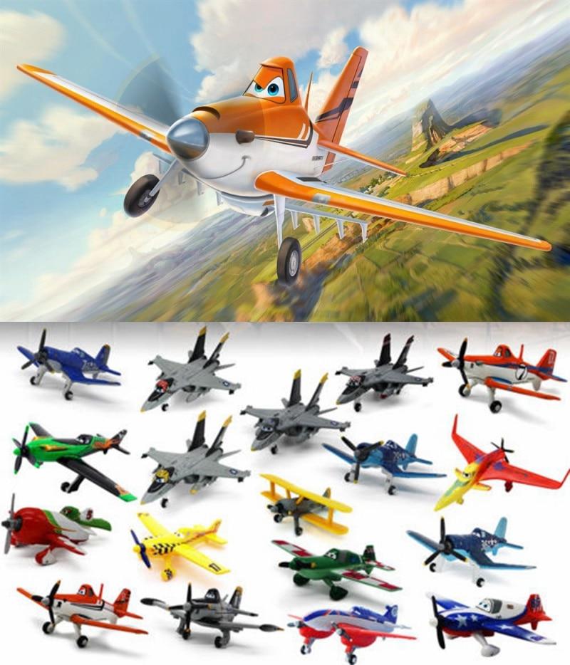 Pixar Planes 1:55 10-12cm No.72 Skipper Dusty Crophopper The King Ishani Shipboard Aircraft Echo Metal Diecast Toy Plane Loose