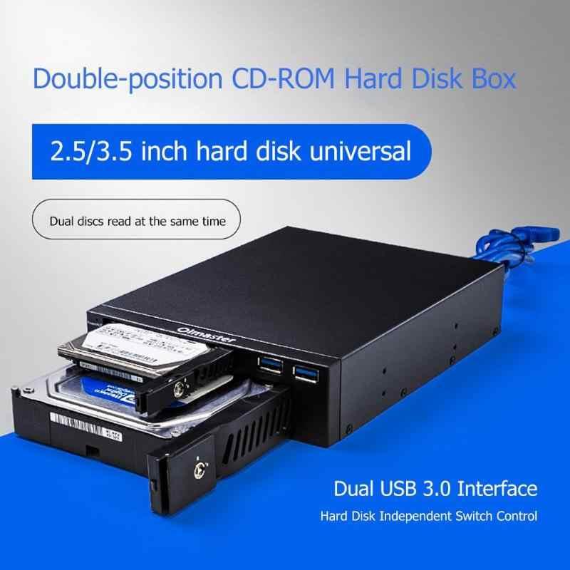 Oimaster 2.5/3.5 pouces interne HDD boîtier de boîtier ssd double USB3.0 lecteur optique Station de support Mobile boîtier de disque dur pour ordinateur de bureau