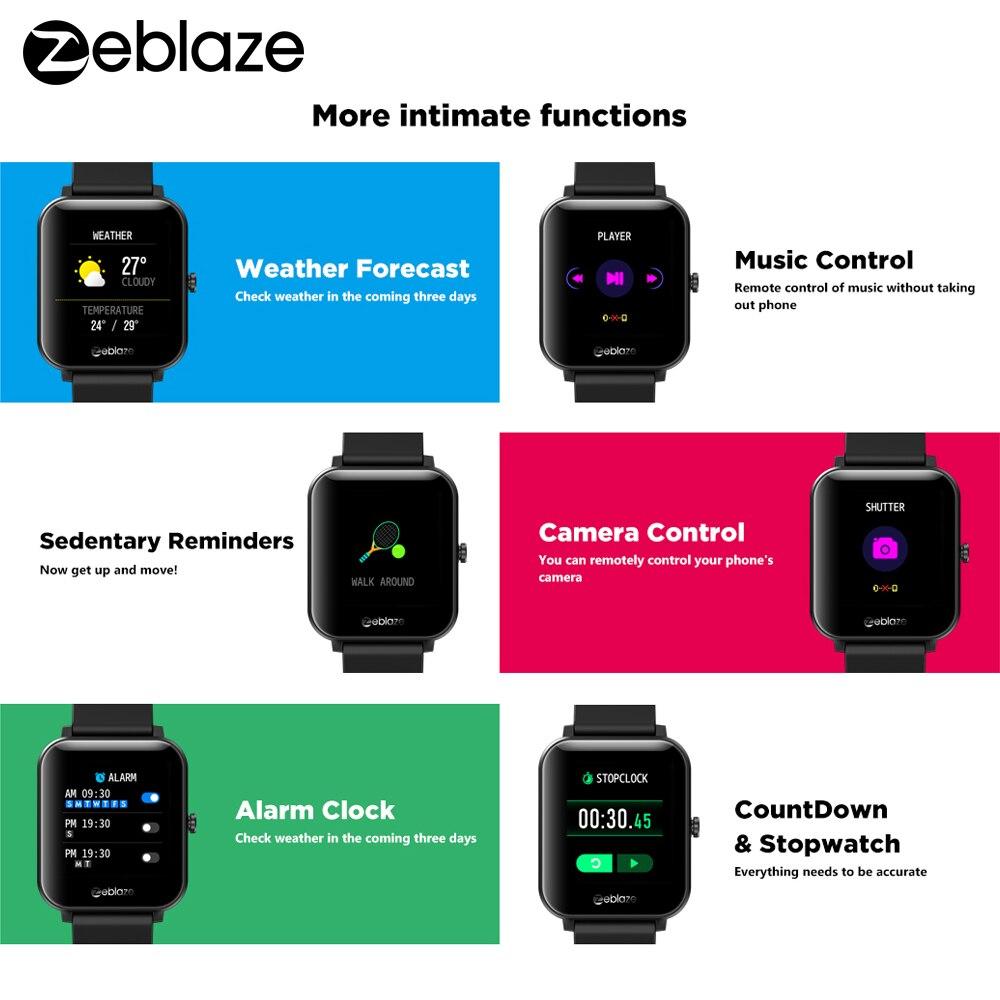 Zeblaze GTS Smart Watch for Phone-Calls Smartwatch Fitness Sleep Heart Rate Blood Pressure Monitor IP67 Waterproof Smart Watches