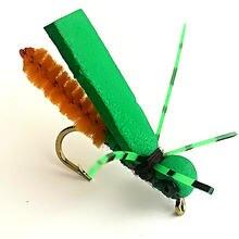 Kkwezva 12 шт рыболовная муха привлекает насекомых сухого плавающего