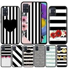 Black Strip Case For Samsung Galaxy A51 A71 M31 A41 A31 A11 A01 M51 M21 M11 M40 Black Soft Phone Cover Fundas waves ocean water case for samsung galaxy a51 a71 m31 a41 a31 a11 a01 m51 m21 m11 m40 black soft phone cover fundas