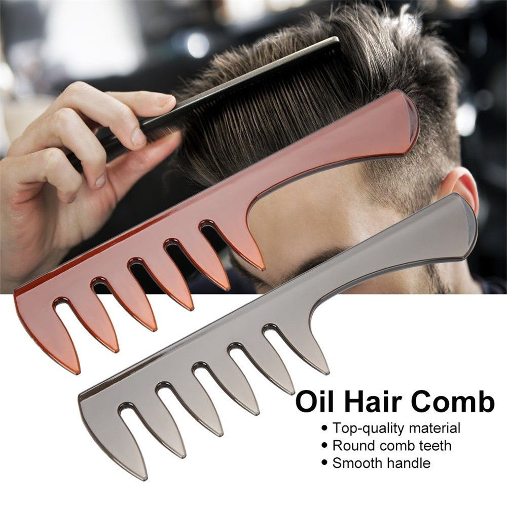 Men Hair Comb Plastic Wide Tooth Classic Brush Large Teeth Styling Tool Hair Care Styling Tool Barber Accessories