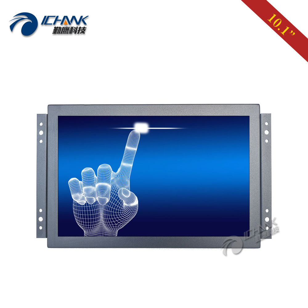 """K101TC-ABHUV-H/10.1"""" inch 1920x1200 16:10 IPS Screen Full View 720p 1080p HDMI Metal Shell Embedded Open Frame Touch LCD Monitor"""