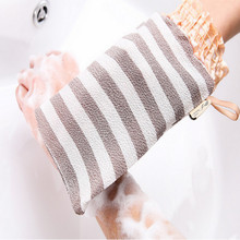 exfoliating sponge gloves body wash bath rug borstel 2pcs/lot free shipping