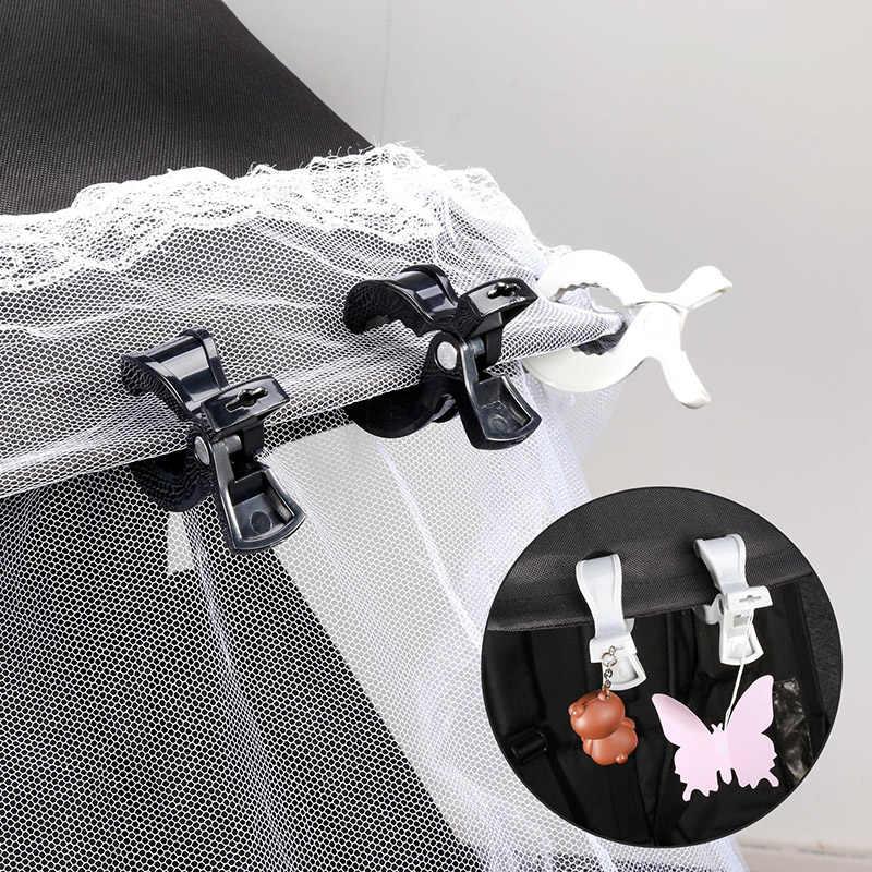 2 pc/lote bebê colorido assento de carro acessórios plástico pushchair brinquedo clipe carrinho de criança peg para gancho capa cobertor mosquito net clipes