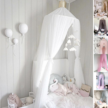 Princess Mosquito Net Bed Canopy Tulle Yarn Bedding Round Dome Netting Curtain Baby Kids Home Decor Curtain Room Decoration D40 недорого