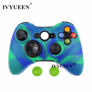 Image 3 - IVYUEEN Camo Protective Skin for Microsoft Xbox 360 Wired / Wireless Controller Silicone Case for X Box 360 Controle Cover