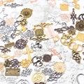 30 шт. 10 видов цветов; Большие размеры 30-45 стили металлического сплава Винтаж Микс Завод с рисунками животных, сердца, подвески-соединители дл...