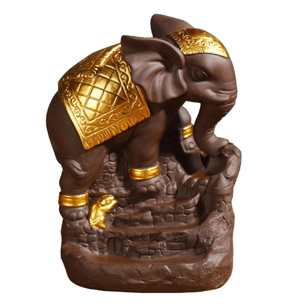 Back Flow Elephant Indian Incense Burners Censer Aromatherapy Holder Home Decoration Accessories Incese Burners Dark In Statues