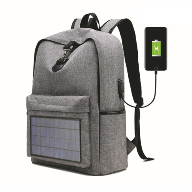 Notebook Backpack Solar Backpack with Usb Charging Port Water Resistant Backpack for Hiking Camping Trekking Fishing 2