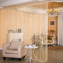 Household Products Glitter String Door Curtain Room Dividers Beaded Fly Screen Fringe Window Panel